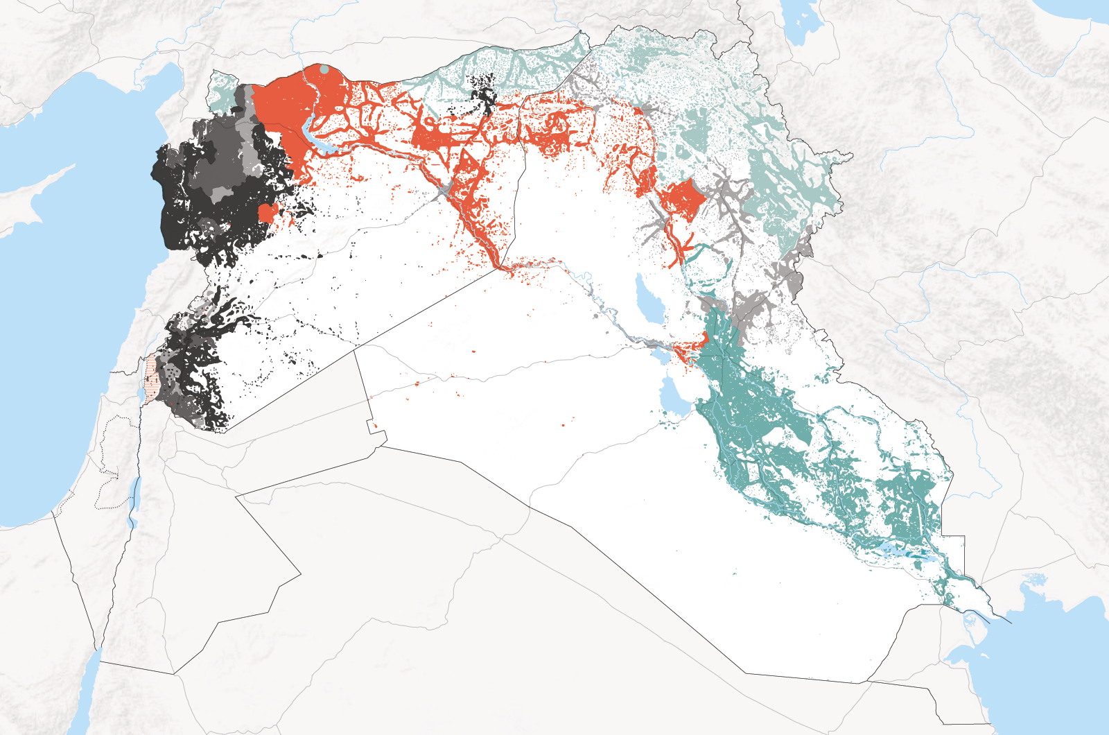 isis areas of influence