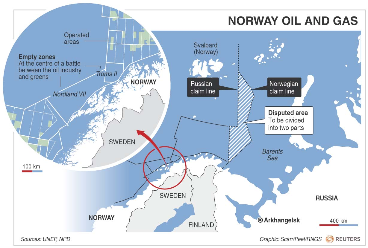an analysis of the sea area of norway and russia
